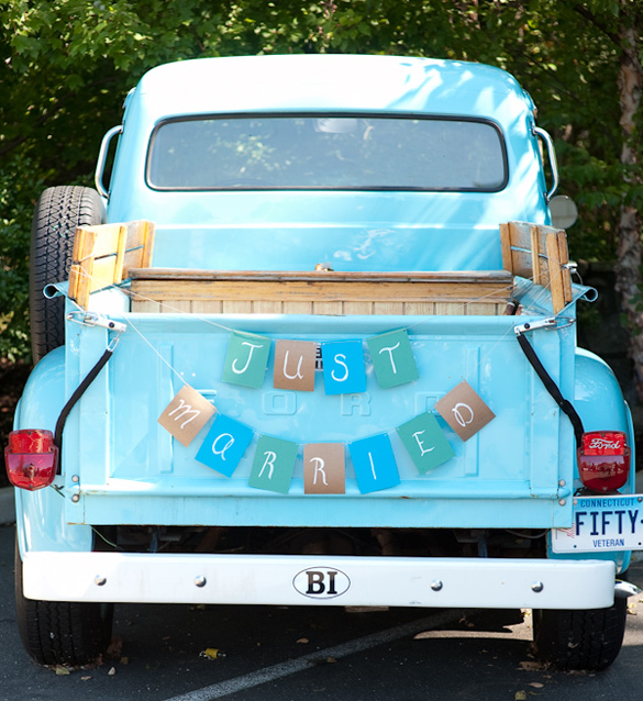Just-Married-Pick-Up-Truck