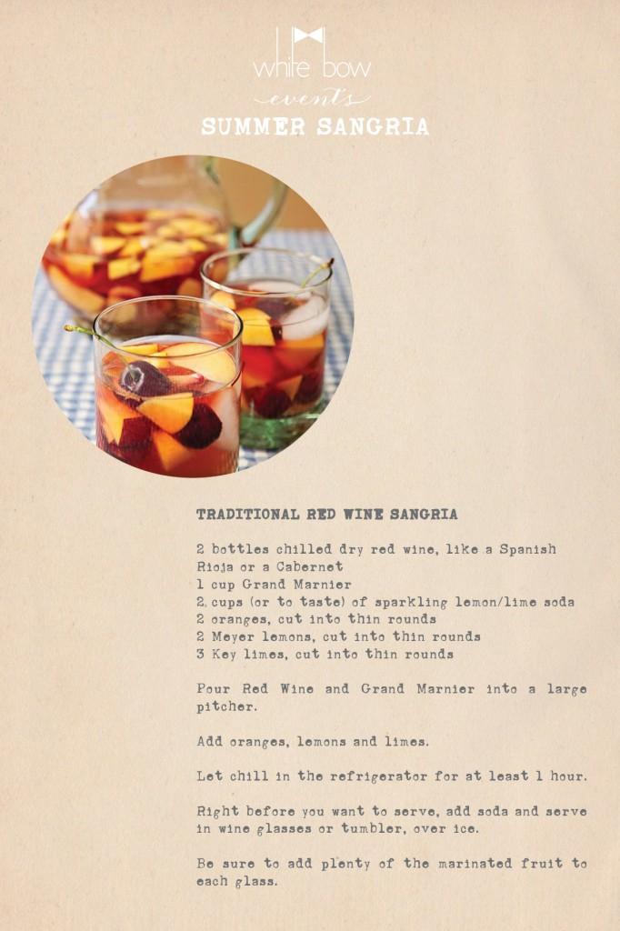 White Bow Events Summer Sangria